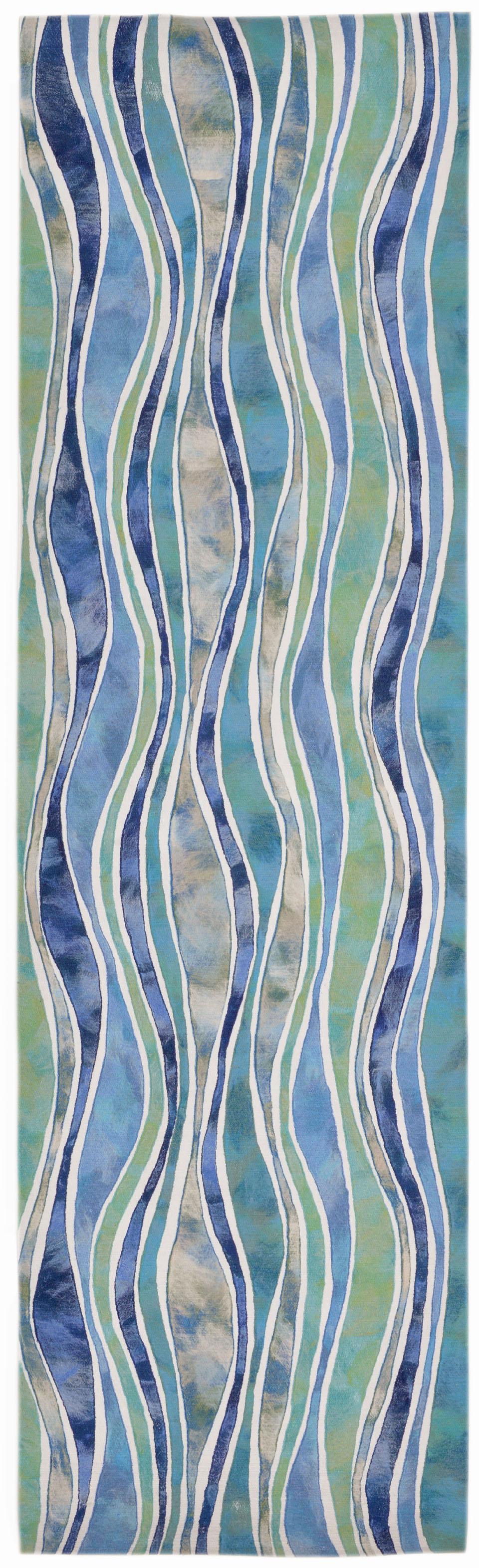 Trans Ocean Visions Iii Wave Ocean 3126 04 Area Rug Free