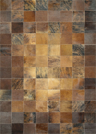 Couristan Chalet Tile and Brown 0348/1579