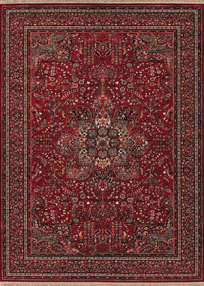Couristan Kashimar All Over Center Med and Antique Red 0612/3337
