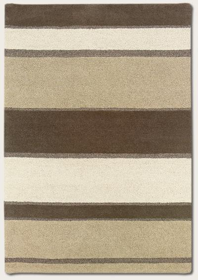 Couristan Super Indo Natural Retro Stripe and Linen/Beige/White 2150/5000