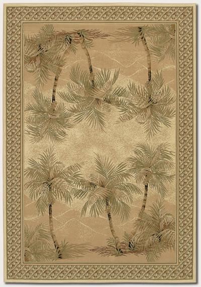 Couristan Everest Palm Tree and Desert Sand 2803/6387