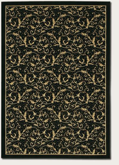 Couristan Everest Royal Scroll and Ebony 2863/6214