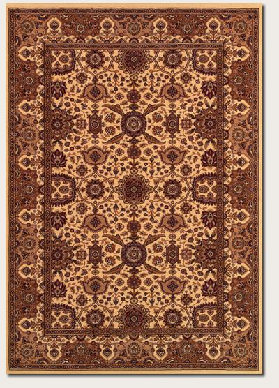 Couristan Himalaya Kailash and Antique Cream/Persian Red 6288/8516