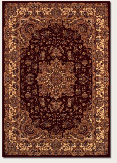Couristan Himalaya Annapurna and Antique Creme/Persian Red 6289/4783
