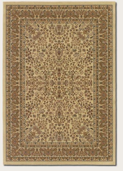 Couristan Izmir Floral Mashhad and Ivory 7018/3000