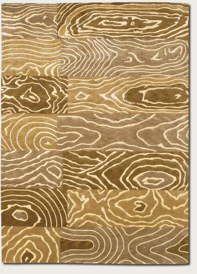 Couristan Pokhara Wood Grain and Gold/Beige 9931/1100