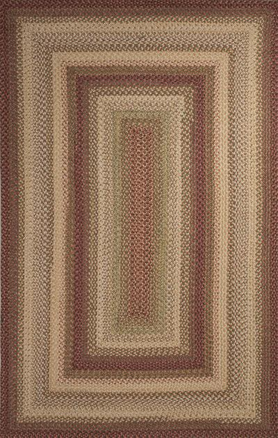 Jaipur Ultra Durable Braided Rugs Barcelona Red/Ivory UBR01