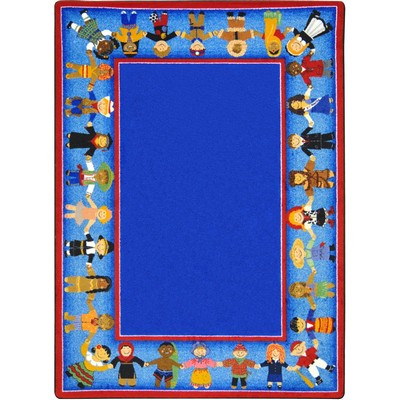 Joy Carpets Kid Essentials Children of Many Cultures Multi