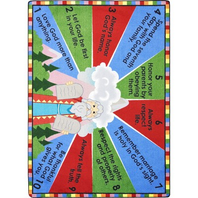 Joy Carpets Kid Essentials Ten Commandments Multi