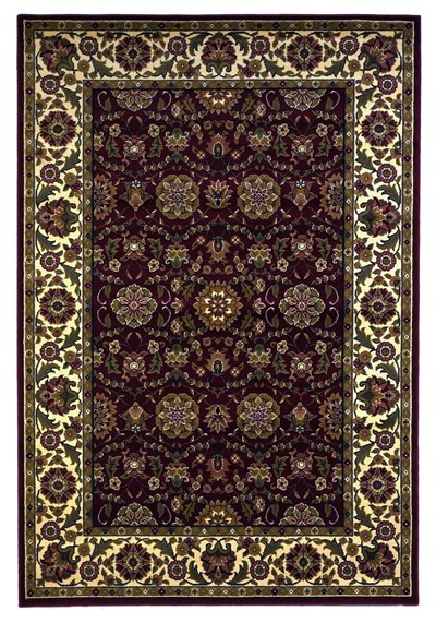 KAS Cambridge  7306 Red/Ivory Floral Agra area rug