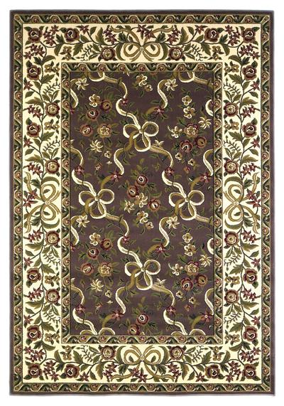 KAS Cambridge  7311 Plum/Ivory Floral Ribbons area rug