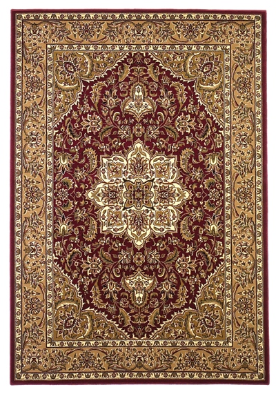 KAS Cambridge  7326 Red/Beige Kashan Medallion area rug