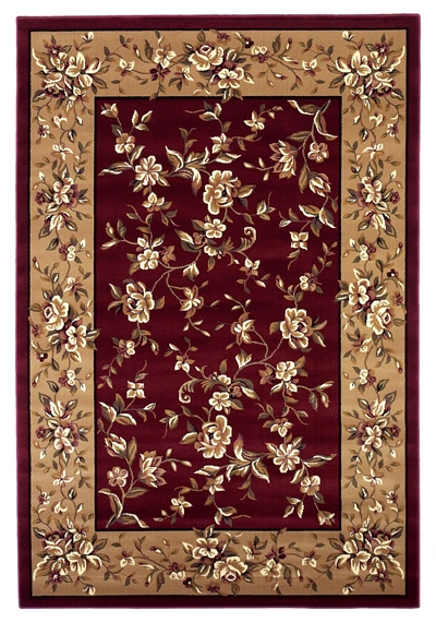 KAS Cambridge  7337 Red/Beige Floral Delight