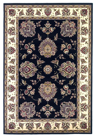 KAS Cambridge  7339 Black/Ivory Floral Mahal