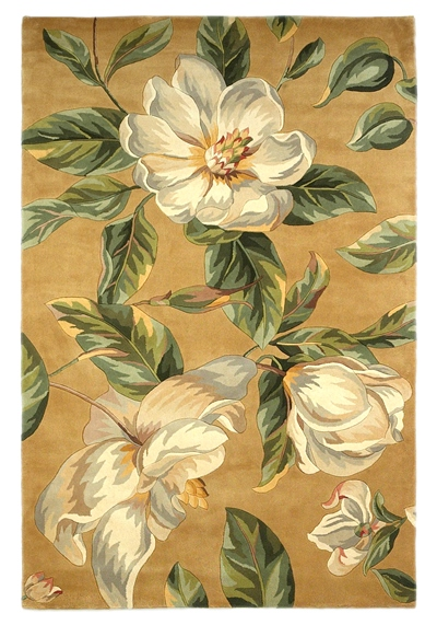 KAS Catalina  0762 Gold Magnolia area rug
