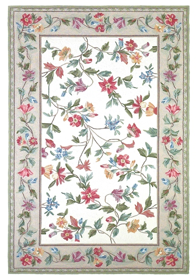 KAS Colonial  1707 Ivory Floral Vine