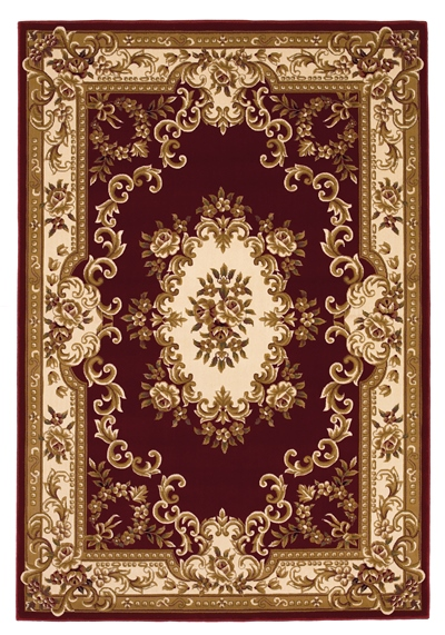 KAS Corinthian  5308 Red/Ivory Aubusson