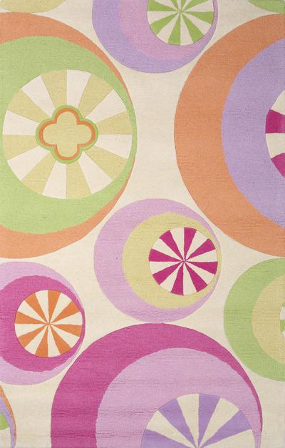KAS Kidding Around  0430 Pastel Peppermints area rug