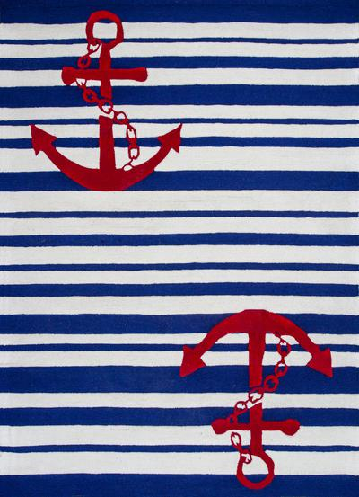 KAS Kozy Kids  0560 Blue/White Nautical