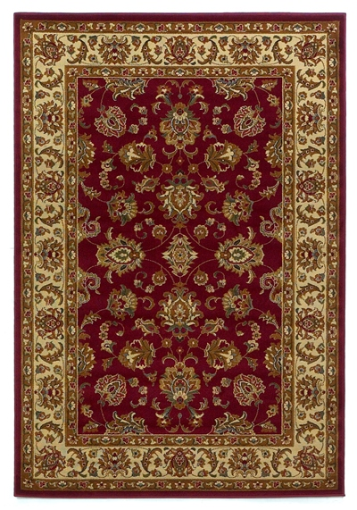 KAS Lifestyles  5431 Red/Ivory Kashan area rug