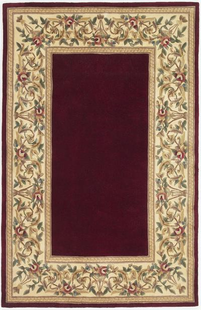 KAS Ruby  8979 Ruby Floral Border