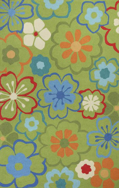 KAS Sonesta  2027 Green Floral Splash area rug