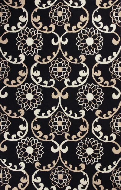 KAS Sonesta  2033 Black Silo Scroll area rug