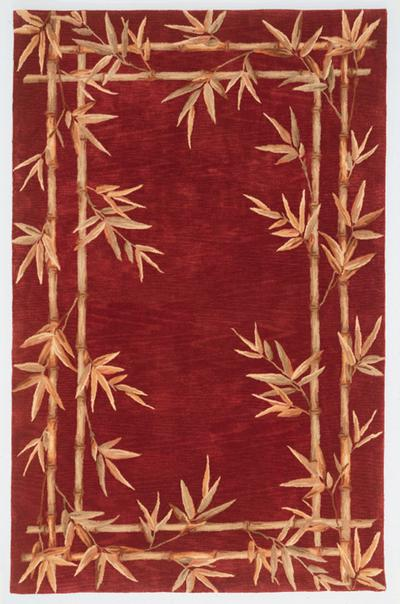 KAS Sparta  3145 Red Bamboo Double Border