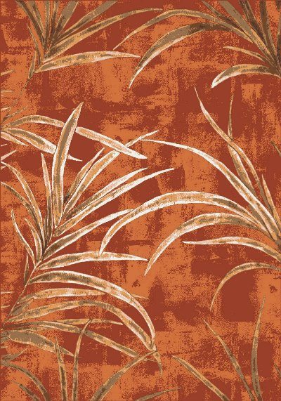 Milliken Pastiche Rain Forest 00624 Fall Orange