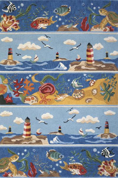 Momeni Coastal Blue CC-07 area rug