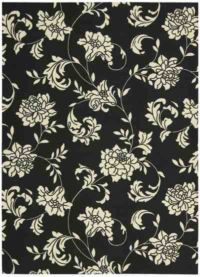 Nourison Home and Garden RS014 Black