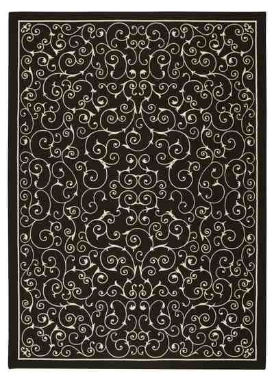 Nourison Home and Garden RS019 Black