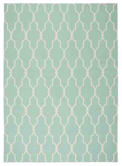 Nourison Home and Garden RS087 Aqua