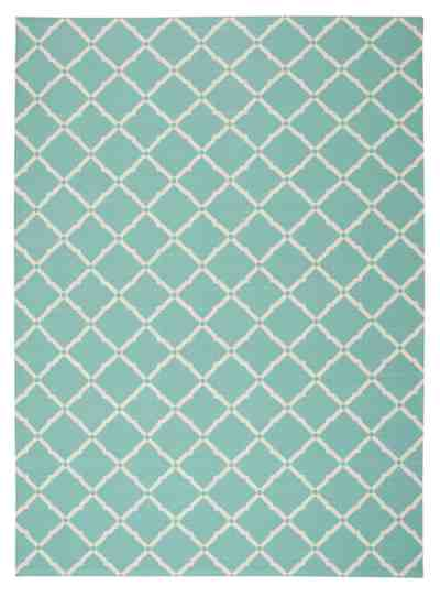 Nourison Home and Garden RS091 Aqua