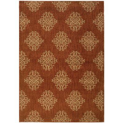 Oriental Weavers Kasbah 3835B Orange and Beige