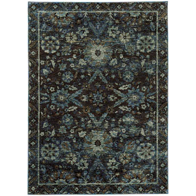 Oriental Weavers Andorra 7124A Navy and Blue