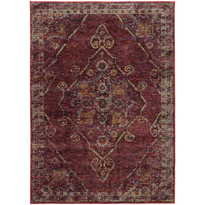 Oriental Weavers Andorra 7135E Red and Gold