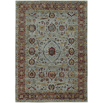 Oriental Weavers Andorra 7155A Blue and Red