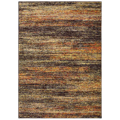 Oriental Weavers Atlas 8037C Gold and Charcoal