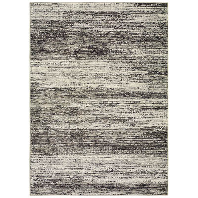 Oriental Weavers Atlas 8037G Ash and Charcoal