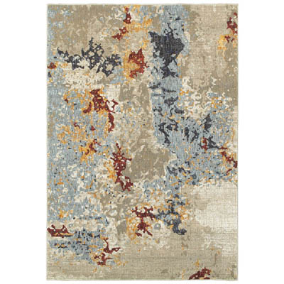 Oriental Weavers Evolution 8043K Beige and Blue
