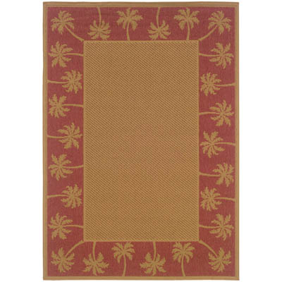 Oriental Weavers Lanai 606C8 Beige and Red