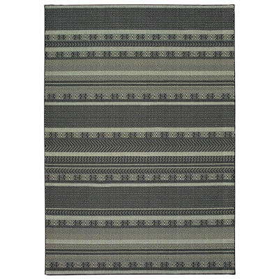 Oriental Weavers Luna 1802K Black and Ivory