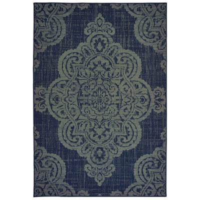 Oriental Weavers Marina 5929B Navy and Grey