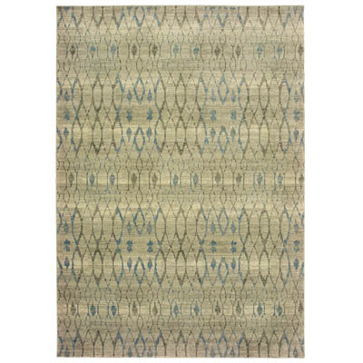 Oriental Weavers Raleigh 1807H Ivory and Blue
