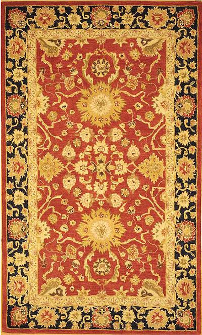Safavieh Anatolia AN517A Red and Navy area rug