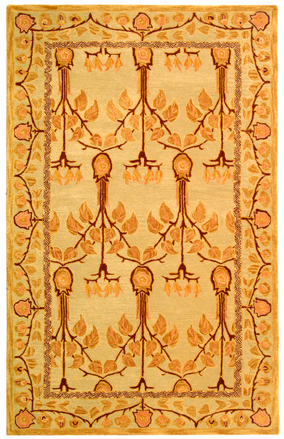 Safavieh Anatolia AN542B Ivory and Gold area rug