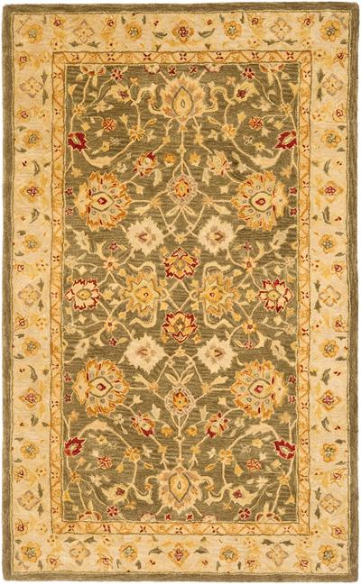 Safavieh Anatolia AN553A Green and Gold area rug