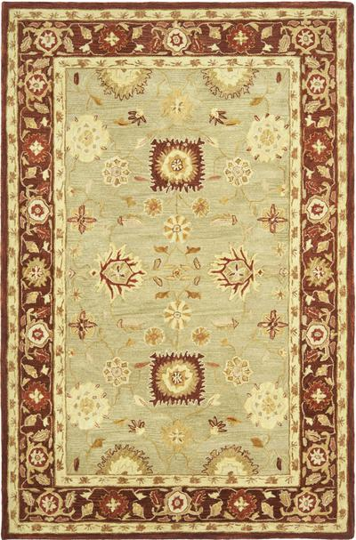 Safavieh Anatolia AN556A Sage and Burgundy