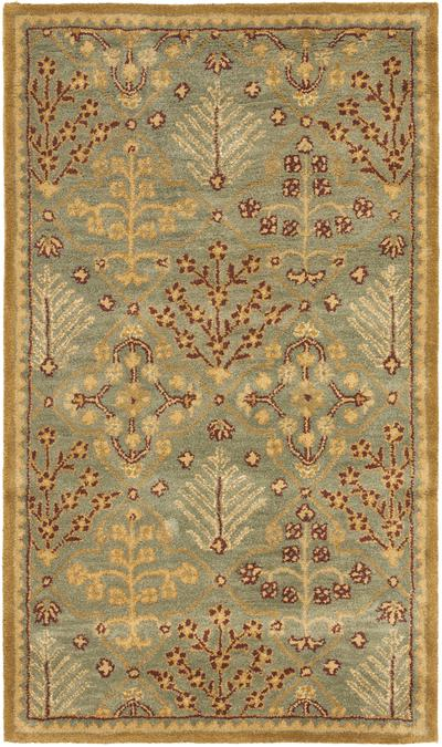 Safavieh Antiquity AT613A Light Blue and Gold